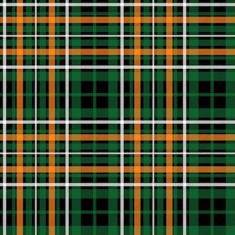 Кельтский зеленый тартан бесшовных текстур ткани