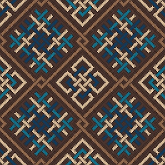 Celtic knitted pattern. seamless background