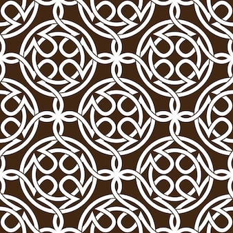 Celtic knot abstract seamless pattern ornament