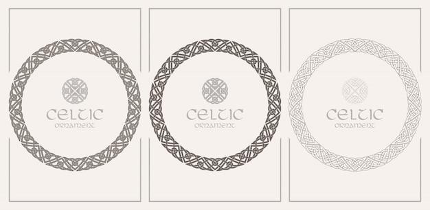 Кельтский узел плетеная рамка бордюрный орнамент. размер а4