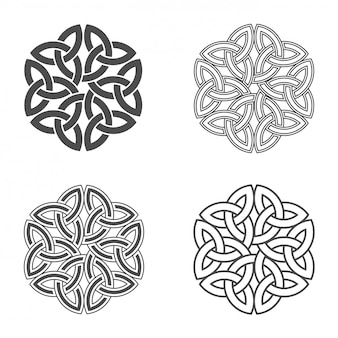 Celtic knot ethnic ornament