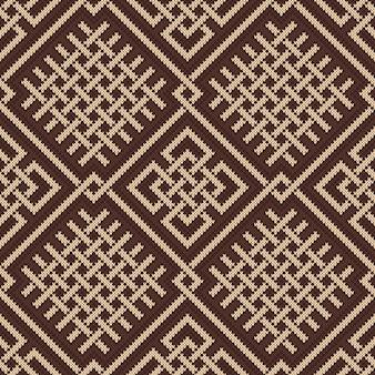 Celtic plexus design pattern. knitted wool seamless background