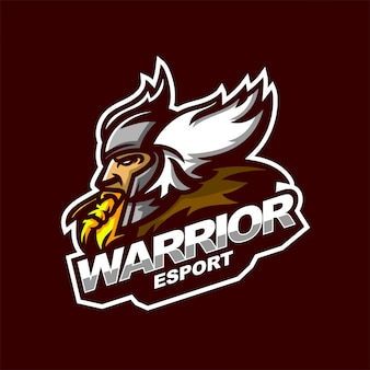 Celtic warrior e-sport gaming mascot logo template