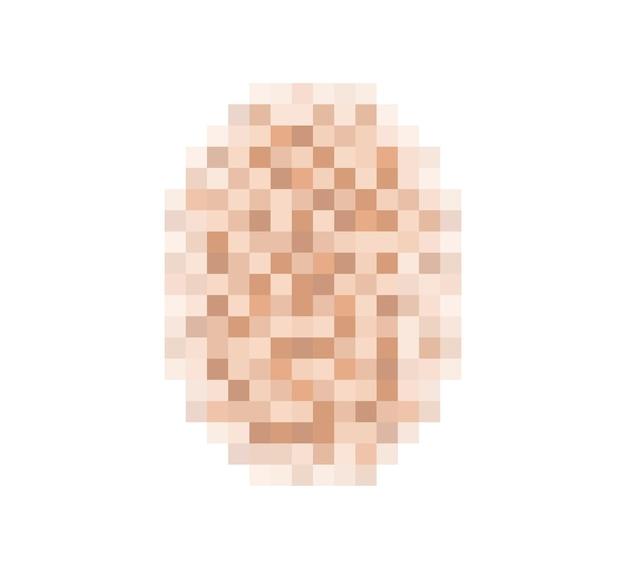 얼굴 또는 누드 피부에 대한 흐림 효과 텍스처를 검열합니다. 흐릿한 픽셀 색상 검열 타원형. 벡터 일러스트 레이 션 흰색 배경에 고립