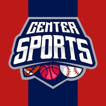 Center sport and esport logo emblem