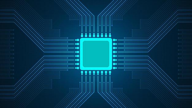 진한 파란색 배경에 운영 체제의 중심점입니다.