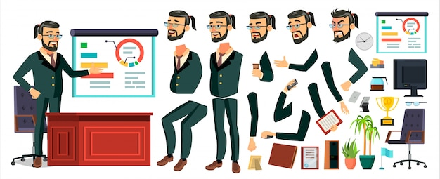 Ceo business man character