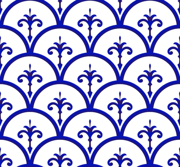 Ceramic pattern seamless background