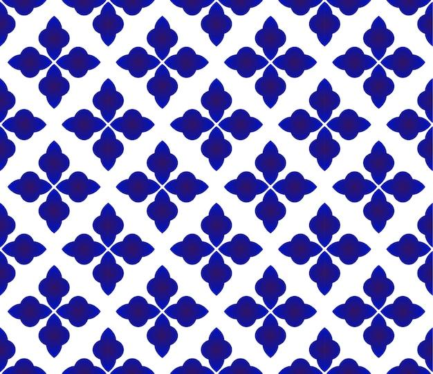Ceramic pattern seamless vector