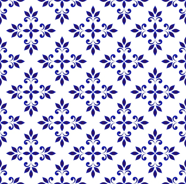 Ceramic seamless pattern vector