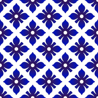 Ceramic seamless pattern