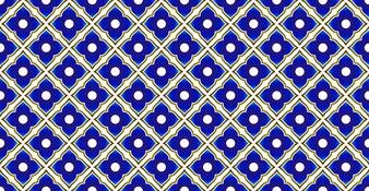 Ceramic thai pattern blue and gold