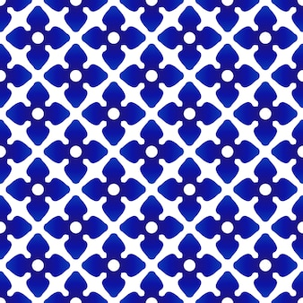 Ceramic thai pattern, flower blue and white background, porcelain seamless pottery modern