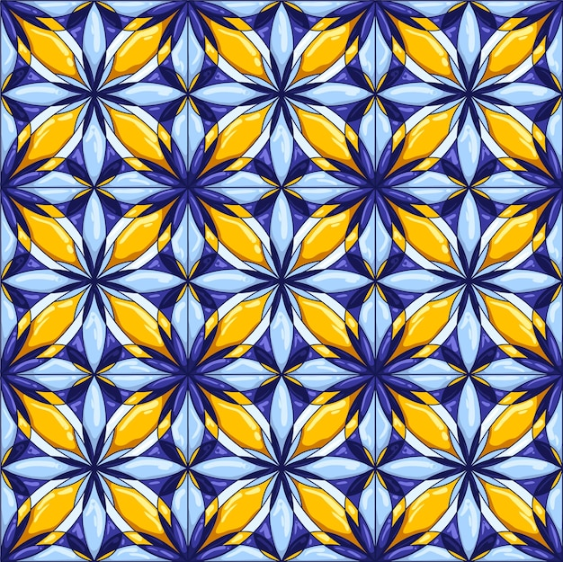 Ceramic tile pattern. decorative abstract background. traditional ornate mexican talavera, portuguese azulejo or spanish majolica.