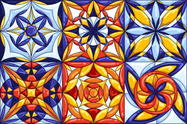 セラミックタイルパターン。装飾的な抽象的な背景。