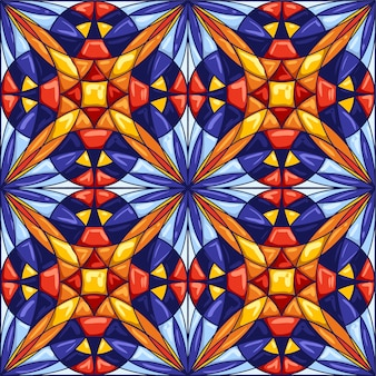 Ceramic tile pattern. decorative abstract background.