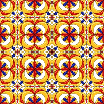 Ceramic tile pattern. gorgeous seamless pattern. can be used for wallpaper pattern fills web page background