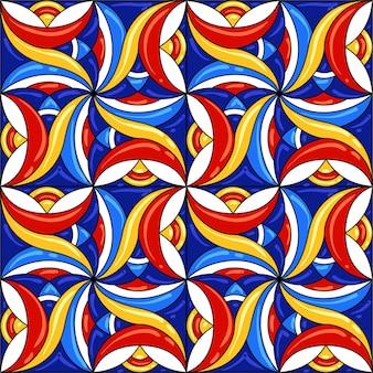 Рисунок керамической плитки. великолепный бесшовный образец.