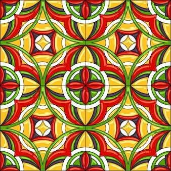 Ceramic tile pattern. gorgeous seamless pattern.