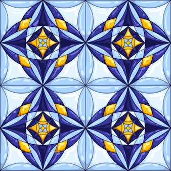 Ceramic tile pattern.
