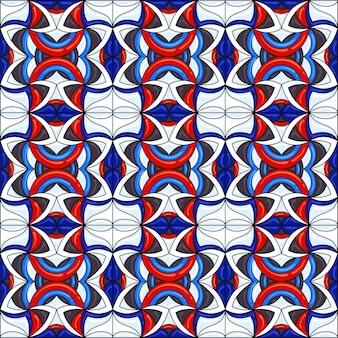 Ceramic tile pattern.