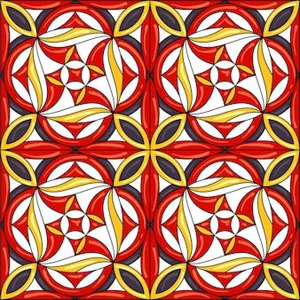 セラミックタイルのシームレスパターン
