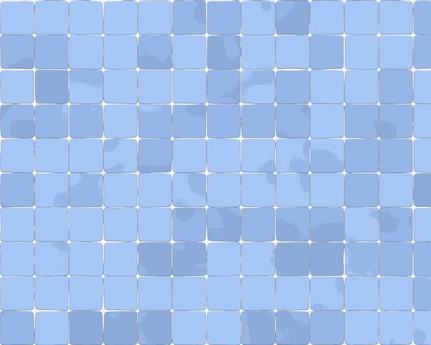 세라믹 타일은 파란색 모자이크입니다. 단순한 질감