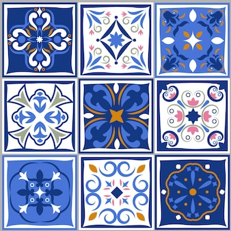 Ceramic tiles vintage patterns.