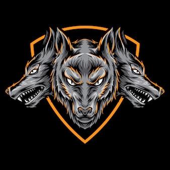 Цербер векторный логотип