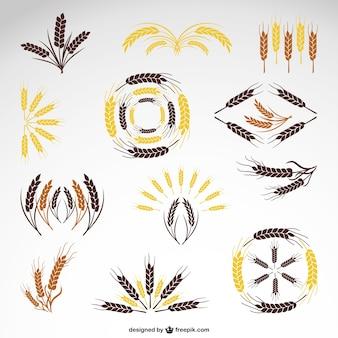 Cereal logos set