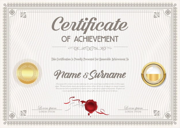 Certificate of achievement design