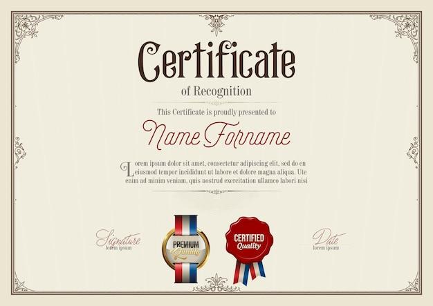 Certificate of achievement illustration