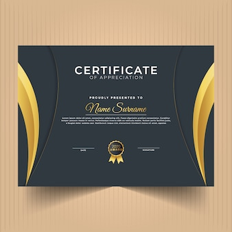 Certificate of achievement modern design