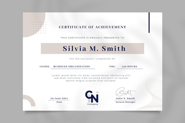 Certificato di modello di realizzazione