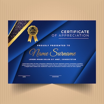 Certificate of achievement with modern design