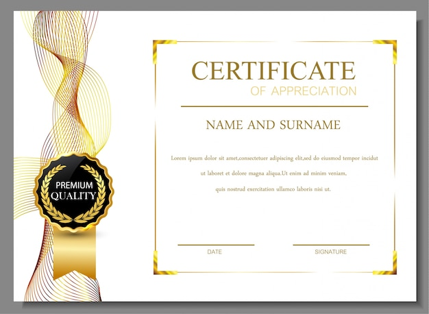 Certificate Design Vectors Photos And Psd Files Free Download
