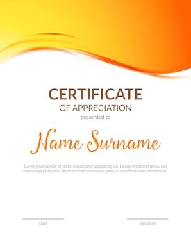Certificate award diploma template design. certificate appreciation modern business card