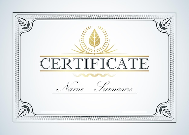 Certificate border frame template guide design. chinese style. retro vintage luxury for text.