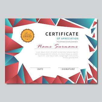 Certificate broken glass background