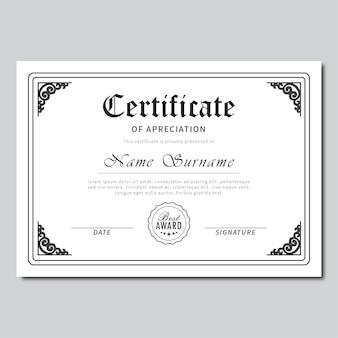 Certificate classic