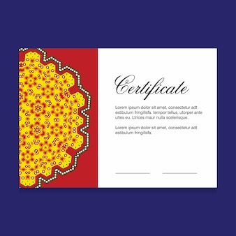Certificate creative design vector