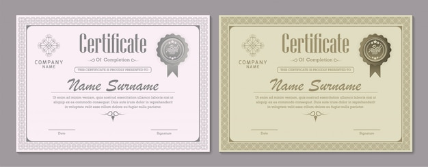 Certificate diploma currency border