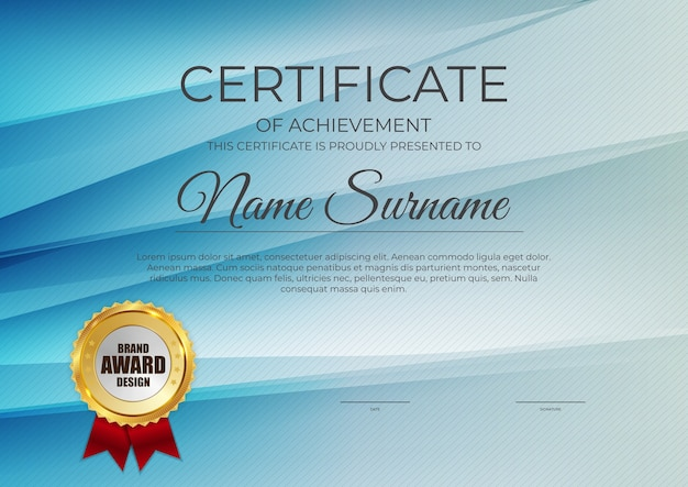Certificate, diploma template background.