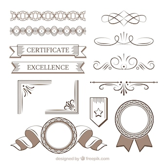 Certificate element set