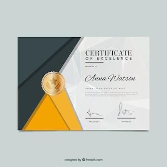 Certificato di eccellenza in stile astratto