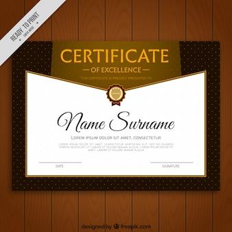Certificato di eccellenza con i puntini decorativi