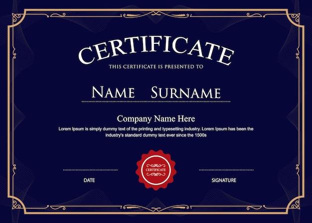 Certificate flourishes elegant border template