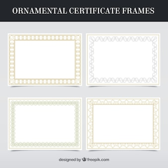 Certificate frames collection in ornamental style