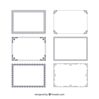 3f2539b3a750 Certificate frames collection with ornaments