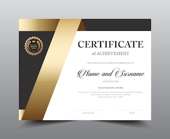 Certificate layout template design.